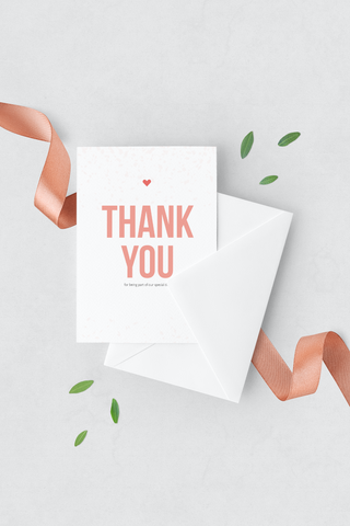 Confetti Thank You Card