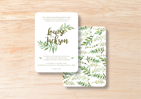 Leafy Day Invitation - BlushWeddingsUK - 1