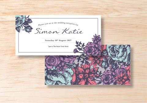 Floral Evening Invitation - BlushWeddingsUK - 1