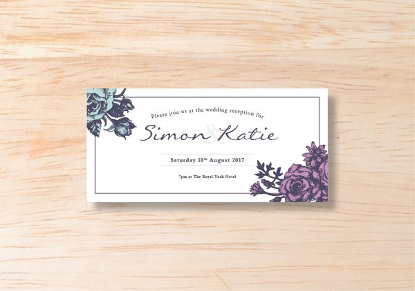 Floral Evening Invitation - BlushWeddingsUK - 2