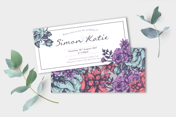 Floral Evening Invitation
