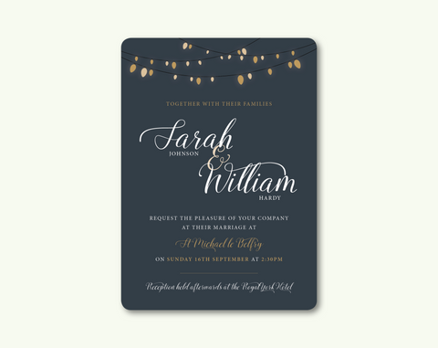Glow Evening Invitation - BlushWeddingsUK - 1