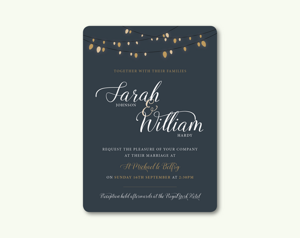 Glow Day Invitation - BlushWeddingsUK - 1