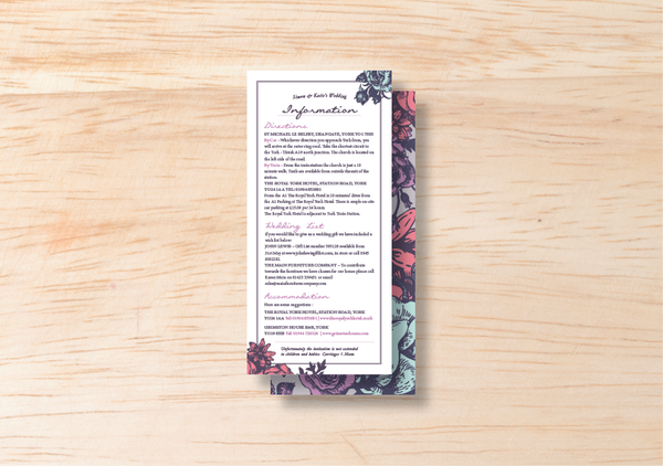 Floral Information Card - BlushWeddingsUK - 1