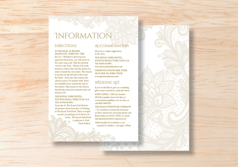 Lace Information Card - BlushWeddingsUK - 1