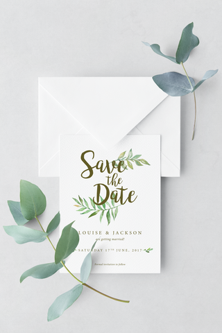 Leafy Save The Date