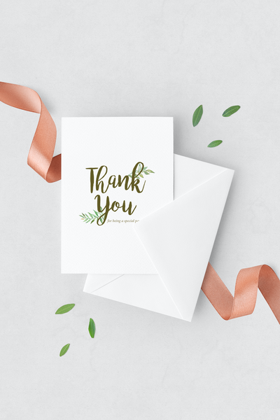 Leafy Thank You Cards