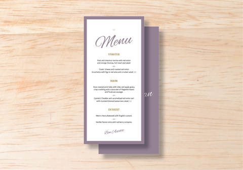 Luna Menu - BlushWeddingsUK - 1