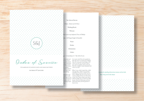 Polka Order Of Service - BlushWeddingsUK - 1