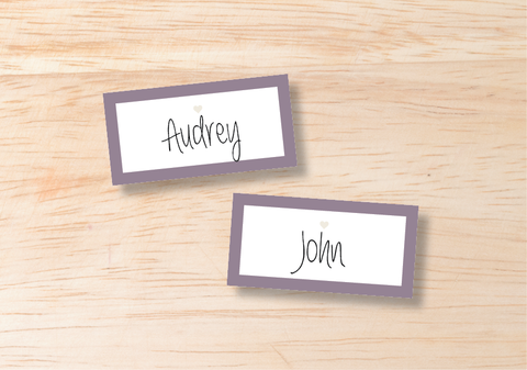 Luna Place Cards - BlushWeddingsUK