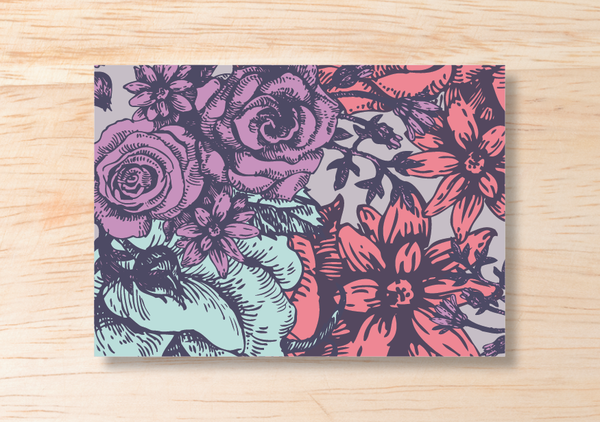Floral RSVP Card - BlushWeddingsUK - 3