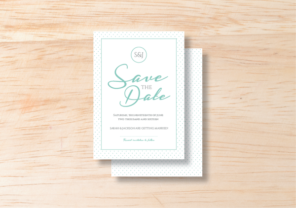 Polka Save The Date - BlushWeddingsUK - 1