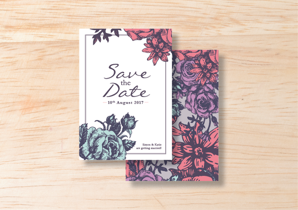 Floral Save The Date - BlushWeddingsUK - 1