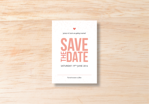 Confetti Save The Date - BlushWeddingsUK