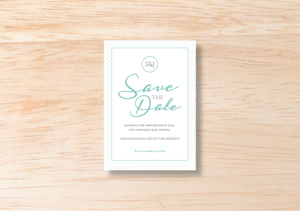 Polka Save The Date - BlushWeddingsUK - 2