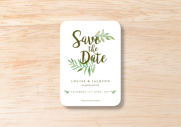 Leafy Save The Date - BlushWeddingsUK - 2