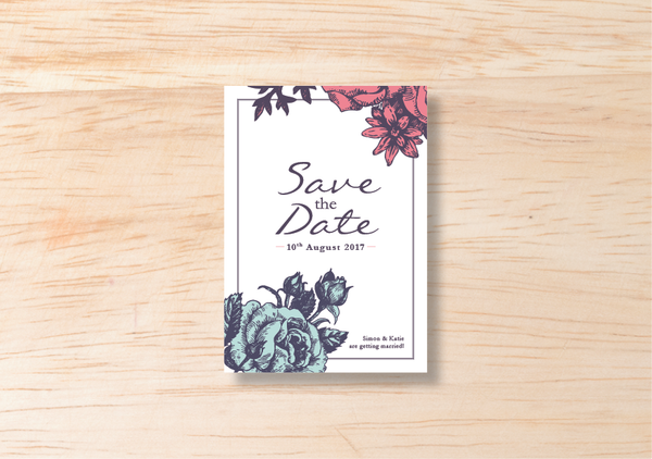 Floral Save The Date - BlushWeddingsUK - 2
