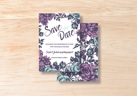 Gothic Save The Date - BlushWeddingsUK - 1