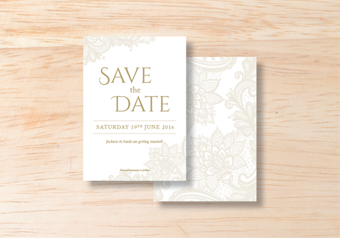 Lace Save The Date - BlushWeddingsUK - 1