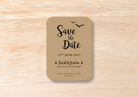 Rustic Save The Date - BlushWeddingsUK