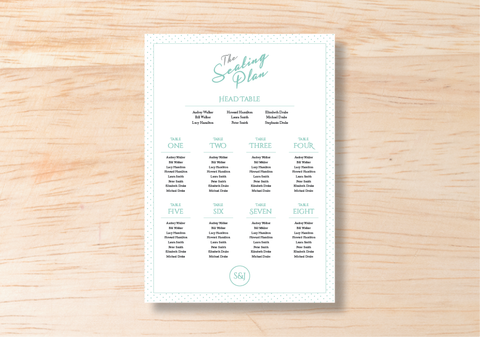 Polka Seating Plan - BlushWeddingsUK