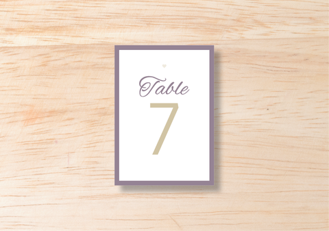 Luna Table Number - BlushWeddingsUK