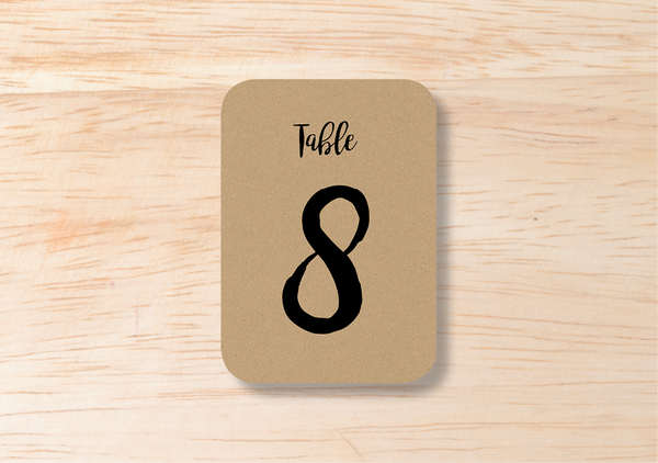 Rustic Table Number - BlushWeddingsUK