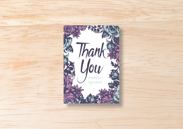 Gothic Thank You Card - BlushWeddingsUK
