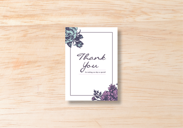 Floral Thank You Card - BlushWeddingsUK