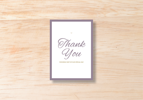 Luna Thank You Card - BlushWeddingsUK