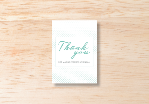 Polka Thank You Card - BlushWeddingsUK