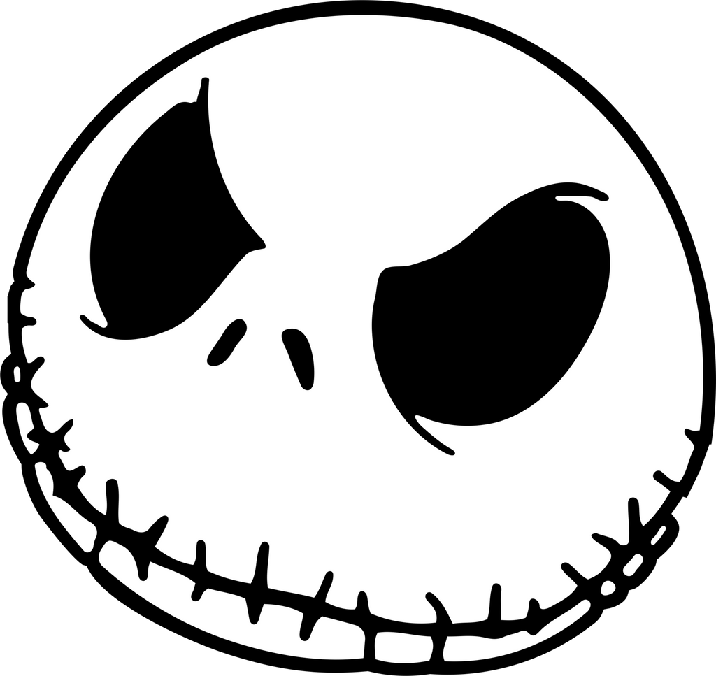 A nightmare before christmas coloring pages - Jack Skellingtons Head Red Dirt Decals