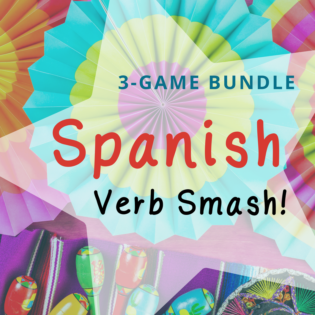 Spanish Verb Smash!  card game bundle