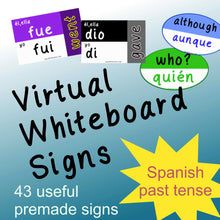 Load image into Gallery viewer, Virtual Whiteboard Signs: Spanish