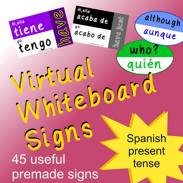 Virtual Whiteboard Signs: Spanish