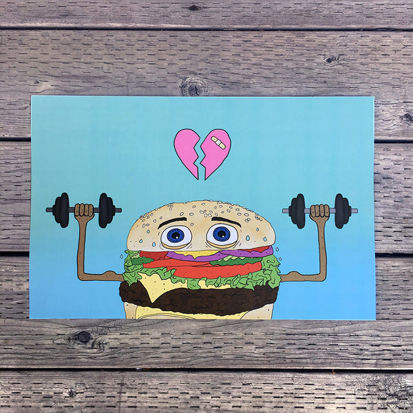 tough guy burger art print