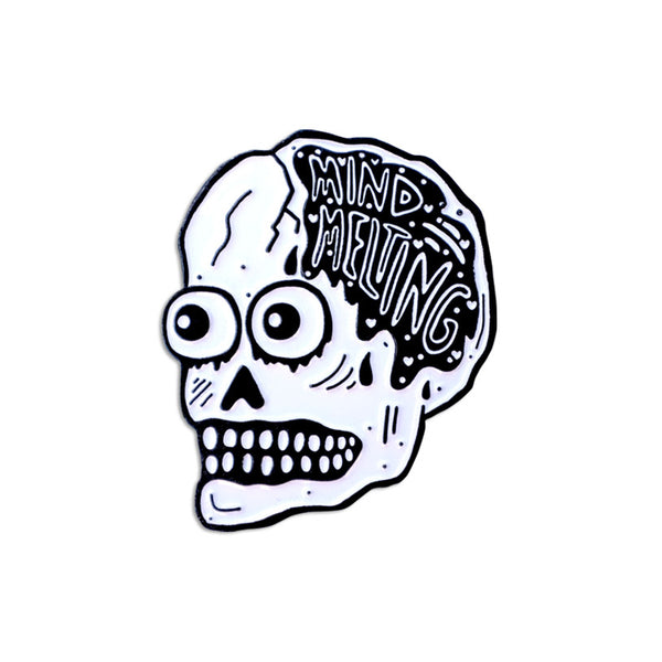 mind melting skull pin