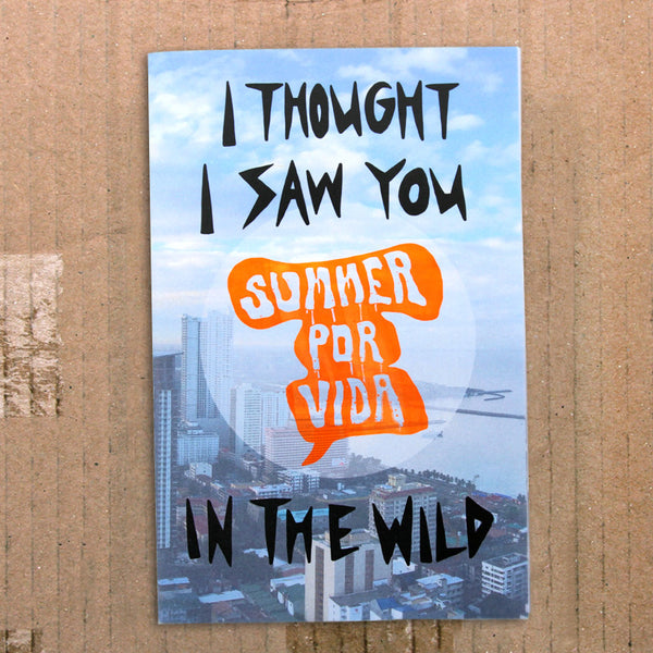 i thought i saw you in the wild postcard zine