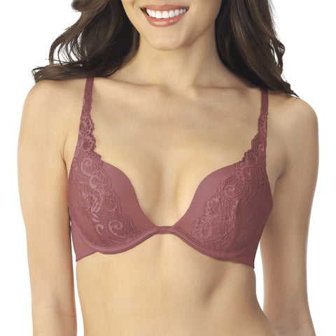 Extreme Plunge Lace Push Up Bra Poppy quickview