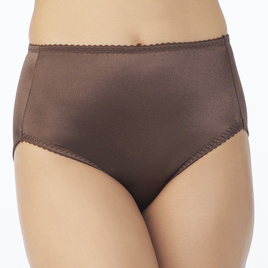 Undershapers Light Control Hi-Cut Brief - Chocolate