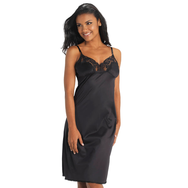Full Slip Extended Sizes - Black Sable