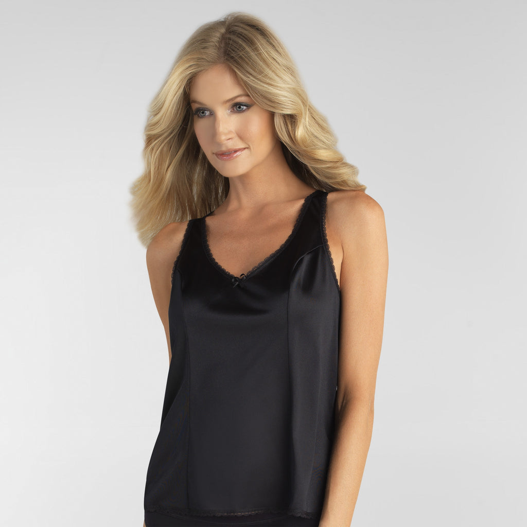 Static Free Camisole Extended Sizes - Black Sable
