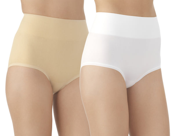 Comfortably Smooth Brief White / Latte