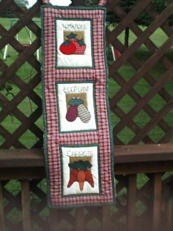 "Quilted Wall Hanging - ""Veggies""   ---  FAST and FREE Shipping"