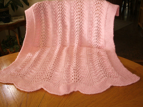 "Baby Blanket - ""Wrapping Blanket in Pink"""