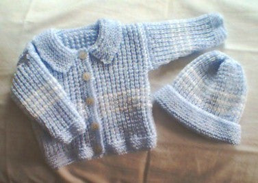 "Baby Sweater Set - ""Precious Baby""   ---  FAST and FREE Shipping"
