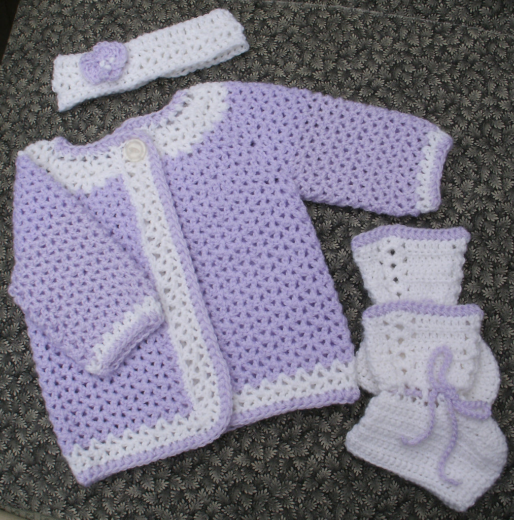 "Baby Sweater Set - ""Victorian Princess""   ---  FAST and FREE Shipping"
