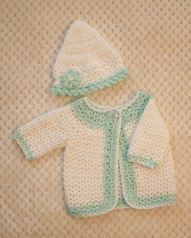 "Baby Sweater Set - ""Victorian Princess""  === FAST and FREE Shipping"