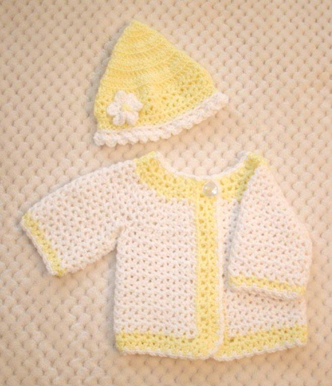 "Baby Sweater Set - ""Victorian Princess""  FAST and FREE Shipping"