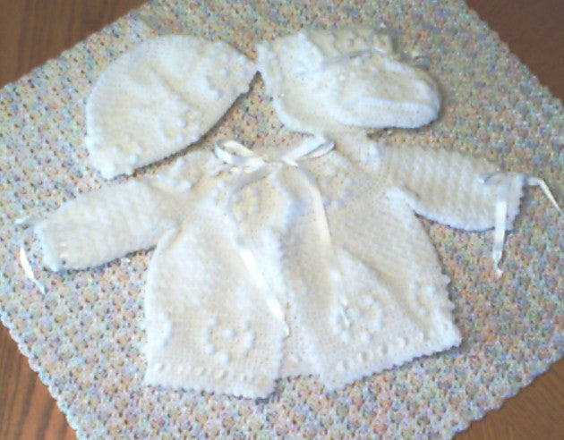 Baby Sweater Set -  Popcorn Hearts